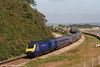 43197 rounds the curve at Langstone Rock, Dawlish Warren with the 1005 London Paddington to Penzance on 8th September 2007.