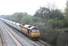 60097 'ABP Port of Grimsby & Immingham' rumbles through Llandevenny with 6B80, 0730 Westbury Yard - Machen on 31st March 2007.