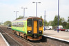 A very clean Central Trains 153379 calls at Barnetby forming the 0957 Newark to Grimsby on 2nd May 2007.