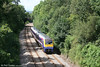 Timetabled passenger services over the Swansea District Line have always been few and far between; this is 175116 at Pontlliw with the 1335 Fishguard Harbour to Cardiff, which calls only at Whitland and Llanelli, on 14th July 2007.