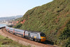 GNER 43039 passes Langstone Rock, Dawlish Warren with VXC's 1E47, 0940 Newquay to Newcastle Central on 8th September 2007.
