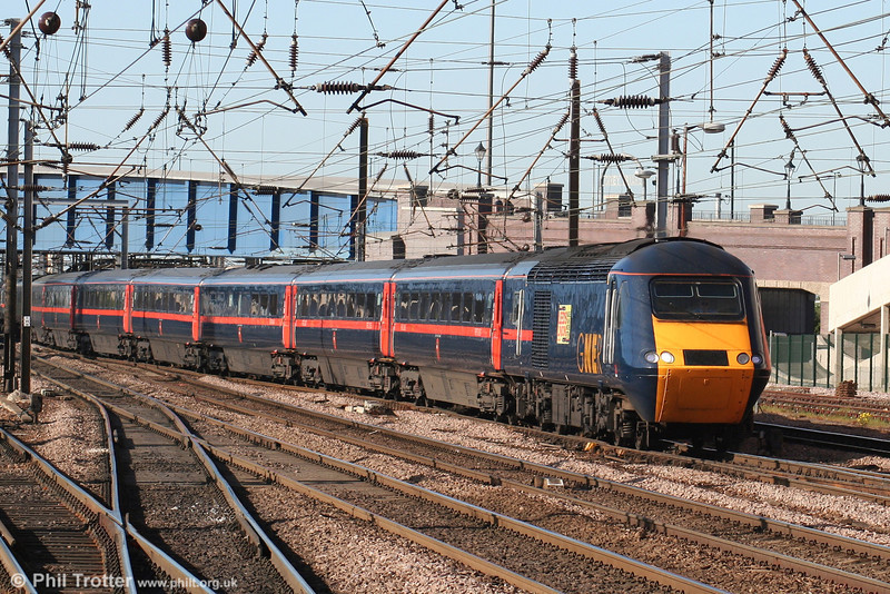 A unidentified GNER HST approaches Doncaster forming the 1640 Leeds - London King's Cross on 30th April 2007.