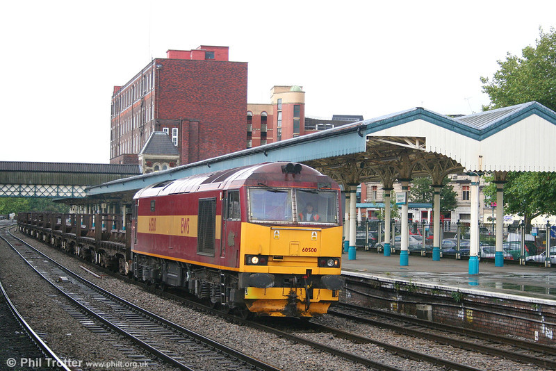 60500 'Rail Magazine' once again, this time at Newport on 17th July 2007 with 6V92, 1010 Corby to Margam steel empties.