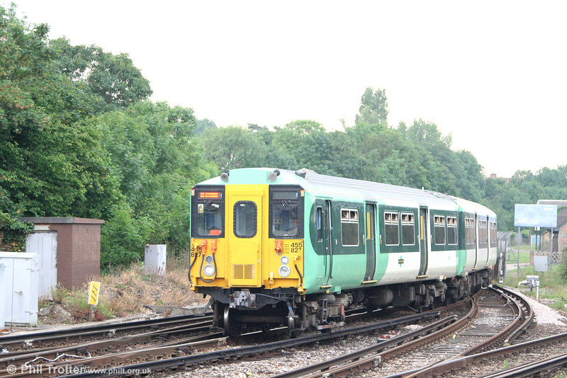 A further view of 455821 at Purley forming the 1510 Caterham to London Bridge on 9th June 2007