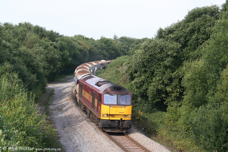 60100 'Pride of Acton' heads through Jersey Marine with 6W56, Neath & Brecon Junction to Newport ADJ on 1st August 2007. Engineering works had been undertaken on the branch to Onllwyn the previous night.
