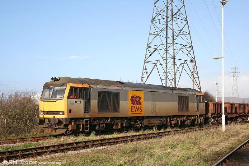 60072 'Cairn Toul' arrives at Knuckle Yard, Margam with 6B29 (Trostre - Margam) on 20th January 2007.
