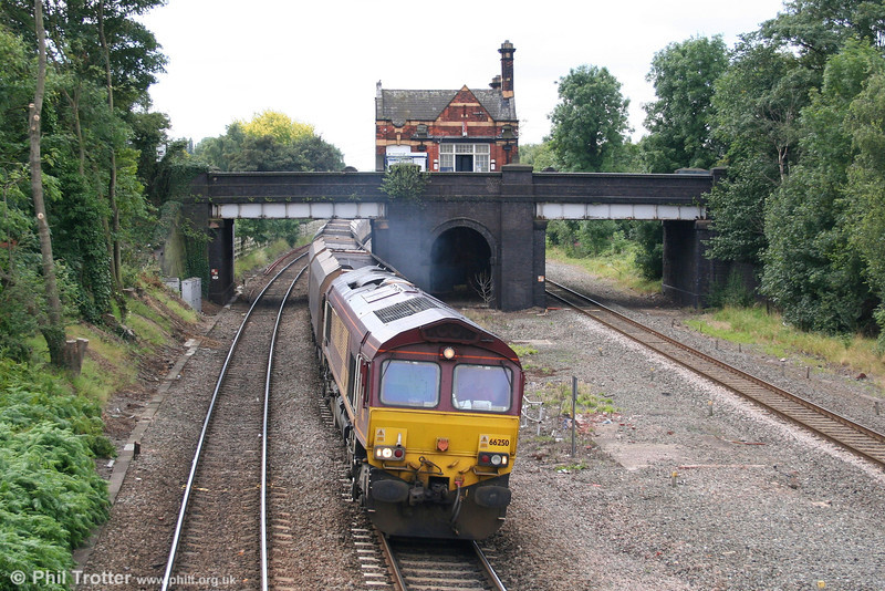 66250 takes its train of empty coal hoppers for Daw Mill through Water Orton on 7th August 2007.