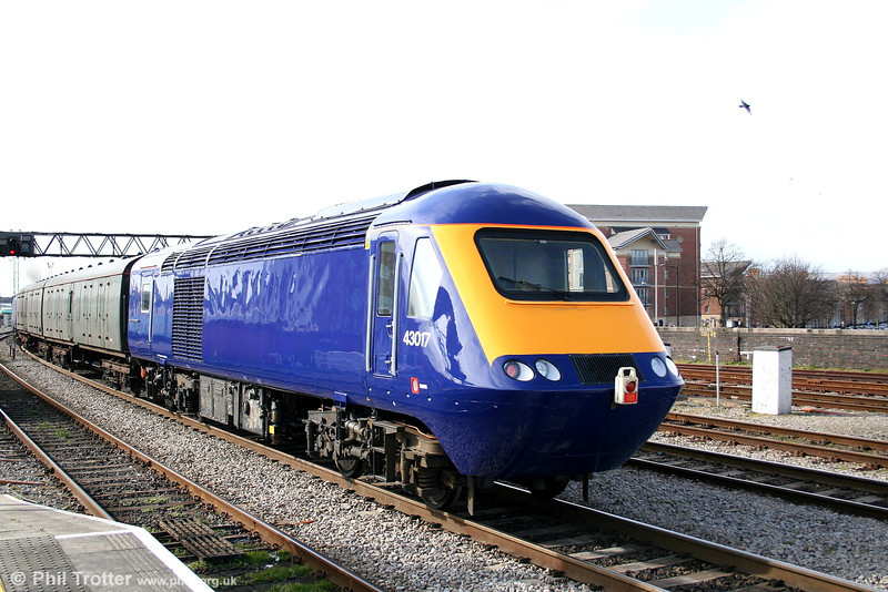 FGW 43017 at Cardiff Central, being returned to Landore TMD by 47813 'John Peel' on 19th March 2007.