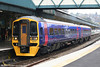Newly refurbished FGW 158761 calls at Newport forming the 1530 Cardiff Central to Warminster on 20th October 2007. Cardiff to Portsmouth Harbour services were terminating at Warminster due to engineering work.