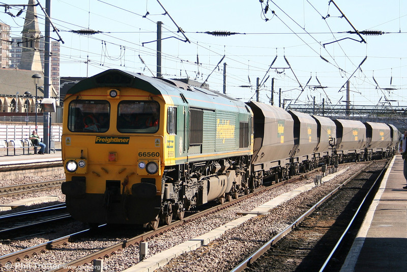 66560 at Doncaster on 30th April 2007 with 4G14, 1430 west Burton Power Station - Redcar coal empties.