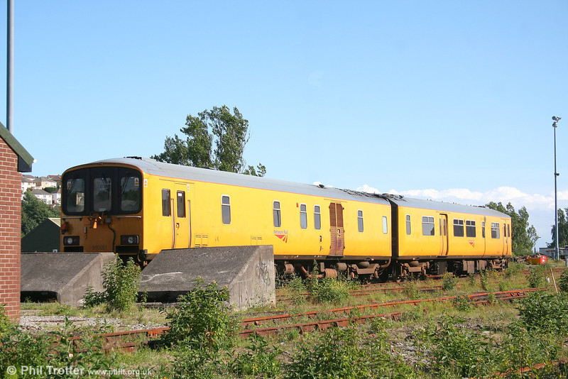 Network Rail's class 150-derived Track Assessment Unit no. 950001 stabled at Maliphant sidings on 18th June 2007.