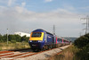 43188 leads a refurbished FGW rake through Margam, forming the 0800 Swansea to London Paddington on 1st August 2007.