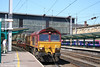 66023 heads south through Carlisle with 6K05, 1330 Carlisle Yard - Crewe departmental. 3rd May 2007.