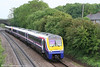 175109 leads a five-car class 175 set slows to call at Pyle forming the late running 0830 Cardiff - Milford Haven on 27th May 2007.