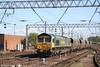 66565 at Carlisle with 6S67, 1525 Milford sidings - Chalmerston empty coal hoppers on 3rd May 2007.
