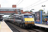 91116 'Strathclyde' calls at Stevenage with the 1535 London King's Cross to Leeds on 11th September 2008.