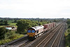 66130 at Coedkernew with 6A29, 1752 Wentloog to Didcot Yard MoD stores train on 10th September 2008.