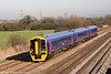 158798 is unique in the FGW fleet, being the only 3-car unit. Now refurbished, it passes Coedkernew forming the 0922 from Portsmouth Harbour to Cardiff on 9th February 2008.