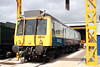 Chiltern's class 121 no. 55022, latterley used as a route trainer for Wrexham & Shropshire, at Tyseley on 28th June 2008.