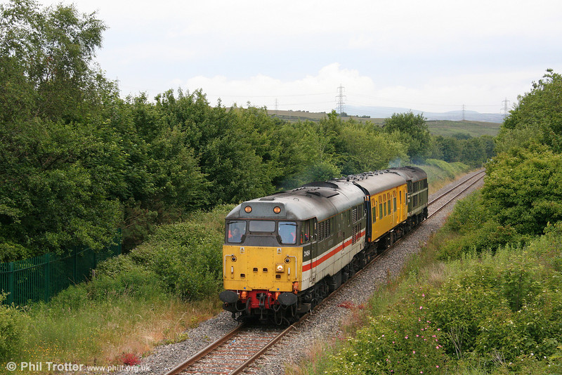 31454 'The Heart of Wessex' at Seven Sisters, returning from Onllwyn on 17th June 2008.
