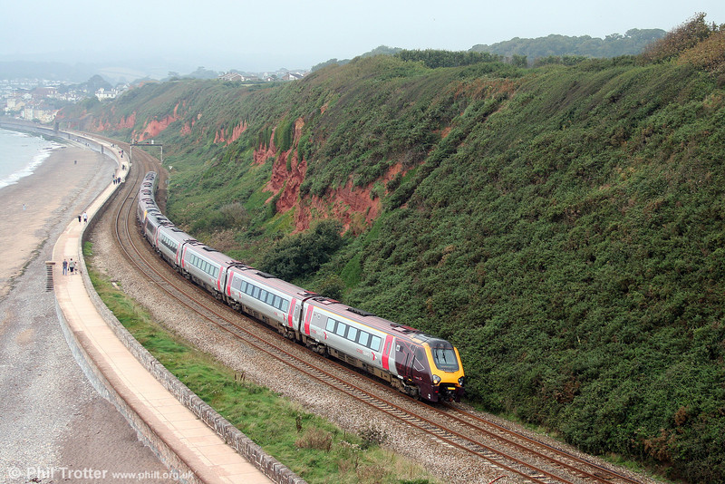 A pair of class 221s form the 0805 Penzance to Derby at Dawlish Warren on 30th August 2008.