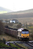 A sequence of photos of 60018 working 6F76, 1013 Parc Slip to Onllwyn and 6F81 return to Margam follows. Here, 60018 approaches Onllwyn on 22nd November 2008.