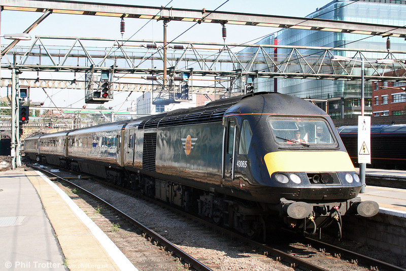 Grand Central 43065 arrives at London King's Cross at the head of the 0653 from Sunderland on 20th September 2008.