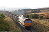 66132 is seen at Tynewydd heading 6F76, 1013 Parc Slip to Onllwyn on 13th December 2008.