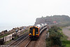 The sea mist rolls in as SWT 159017 approaches Dawlish Warren with the 1552 Paignton to Honiton on 30th August 2008.