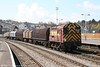 09017 passes through Newport with 8F06, Newport Docks to Llanwern on 15th April 2008.