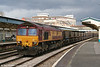 66199 at Newport with an Uskmouth Power Station to Newport Docks empty HAA working on 24th March 2008.
