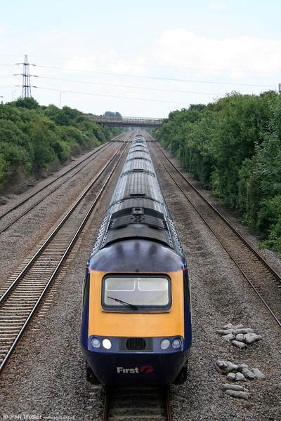 FGW's 1345 London Paddington to Swansea is seen at Llandevenny on 14th June 2008.
