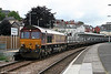 66187 at Newport with 6V49, 2204 (previous night) Tees Yard to Newport Docks aluminium ingots on 12th July 2008.