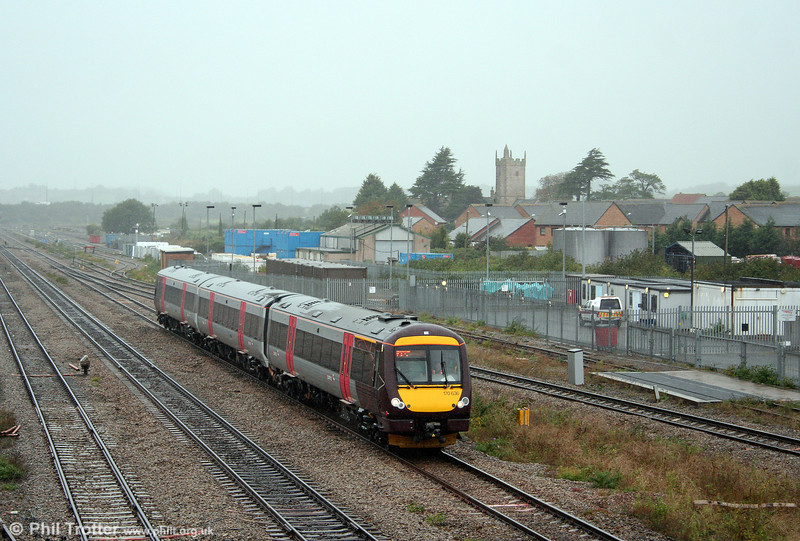 Refurbished 170636 passes Severn Tunnel Junction, forming the 1545 Cardiff Central to Nottingham on 4th October 2008.