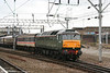 47773/D1755 leaves Crewe at the head of 1Z87, 1414 Crewe to Liverpool Lime Street, 'Les Ross's Day Tripper' on 1st March 2008.