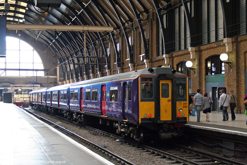 FCC's recently refurbished 317343 waits at London King's Cross on 20th September 2008.