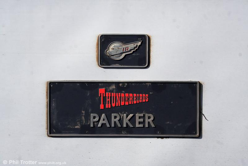 Nameplate of 57311 'Parker'. 2nd September 2008.