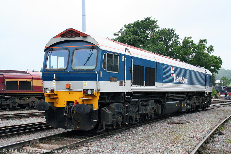 59102 'Village of Chantry' takes a break from its work hauling stone trains at Merehead on 21st June 2008.