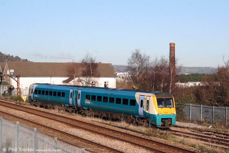 175011 on the approach to Swansea forming the 0834 Manchester Piccadilly to Milford Haven on 6th December 2008.