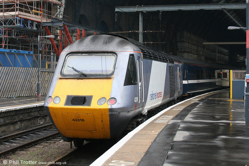 43316 waits to leave London King's Cross with the 1210 service to Leeds on 11th September 2008.