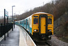 150240 waits to depart from Ebbw Vale with the 1340 to Cardiff Central on 8th March 2008.
