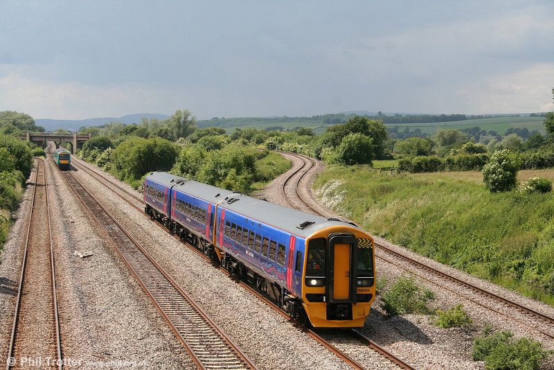 FGW 158954 at Llandevenny, working the 1430 Cardiff Central to Portsmouth Harbour on 14th June 2008.
