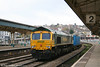 66568 heads through Newport with 4O51, 1002 Wentloog to Millbrook on 14th April 2008.