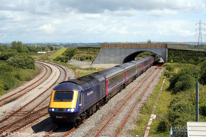 FGW's 43086 heads the 0927 London Paddington to Carmarthen through Llandeilo Junction on 13th July 2008.