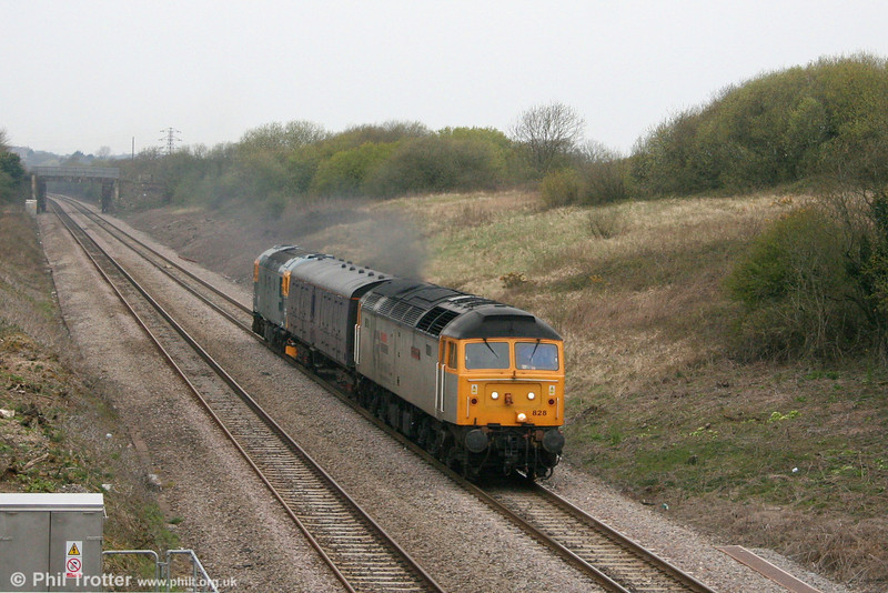 Cotswold 47828 'Joe Strummer' on Stormy Bank with 5Z80, 1735 Landore TMD to Gloucester which included 33202. 18th April 2008.