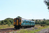 150256 slows to set down a passenger at Llangennech, while working the 1516 Swansea to Crewe on 13th July 2008.