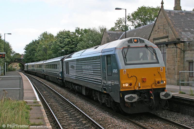 A closer view of WSMR 67015 'David J. Lloyd' at Ruabon with 1P13, 1110 Wrexham to London Marylebone on 1st September 2008.