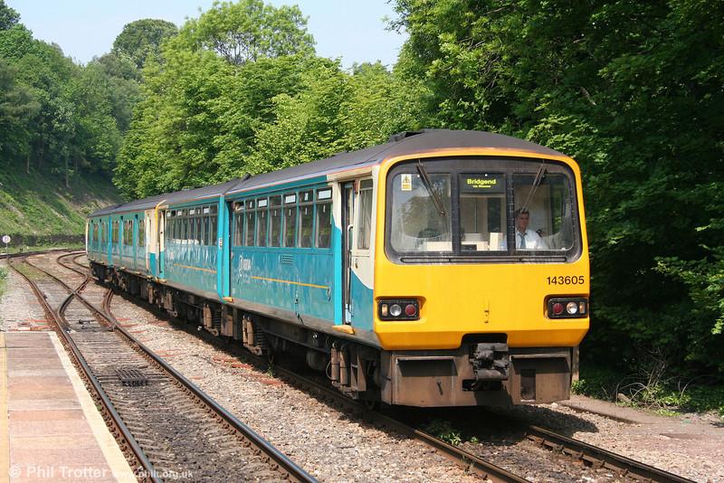 143605 approaching Radyr forming the 1038 Merthyr Tydfil to Bridgend via the Vale of Glamorgan on 24th May 2008.