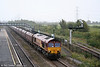 66128 at Severn Tunnel Junction with 6B86, 1300 Portbury to Aberthaw on 4th October 2008.