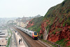 XC's 1230 Paignton to Derby is seen heading along the sea wall at Dawlish on 30th August 2008.